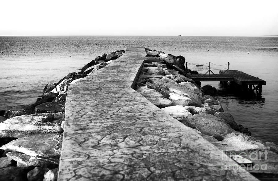 Long Walk To The Sea - Black And White Photograph  - Long Walk To The Sea - Black And White Fine Art Print