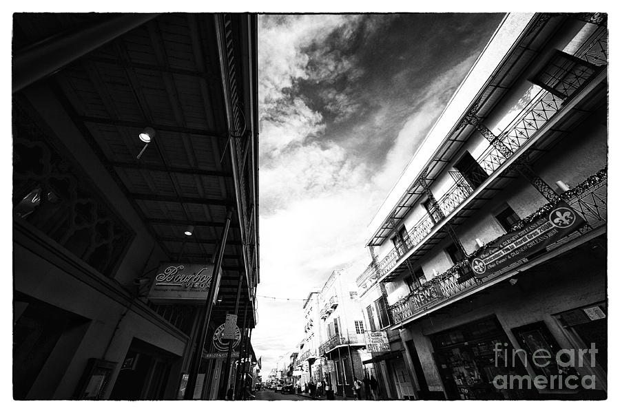 Long Way Down Bourbon Street Photograph  - Long Way Down Bourbon Street Fine Art Print