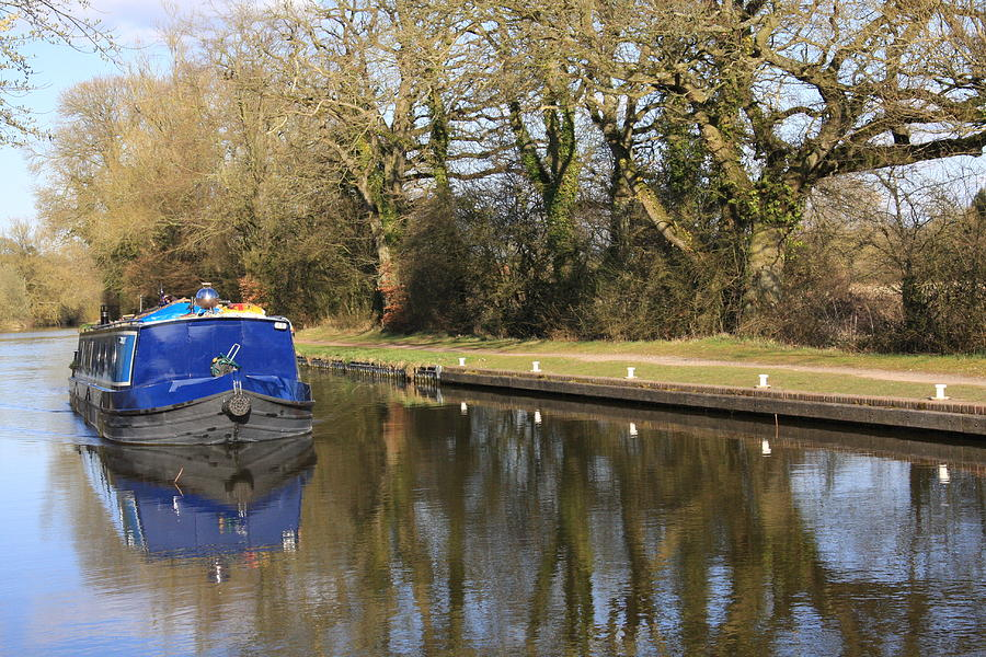 Canal Photograph - Longboat by Terry Beecher
