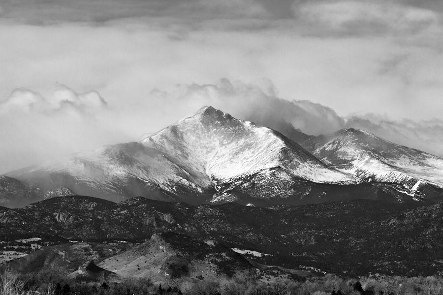Longs Peak And A Mean Storm Photograph  - Longs Peak And A Mean Storm Fine Art Print