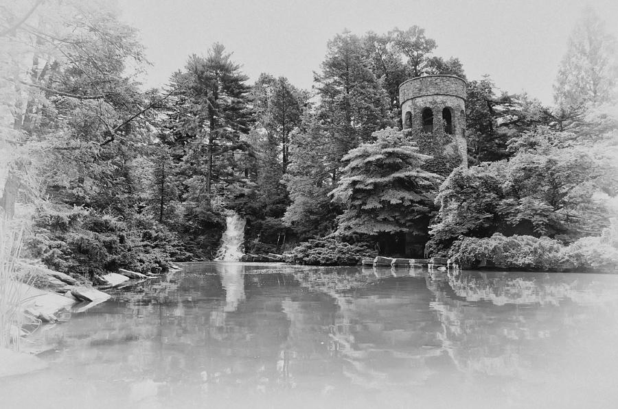 Longwood Gardens Castle In Black And White Photograph By