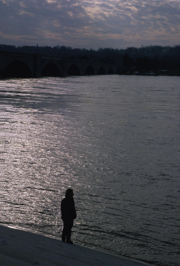 Looking Out Over A Flooded Potomac Photograph