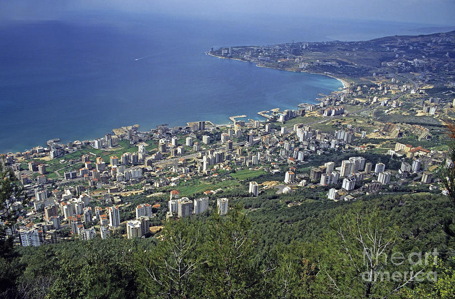 Looking Over Jounieh Bay From Harissa Photograph
