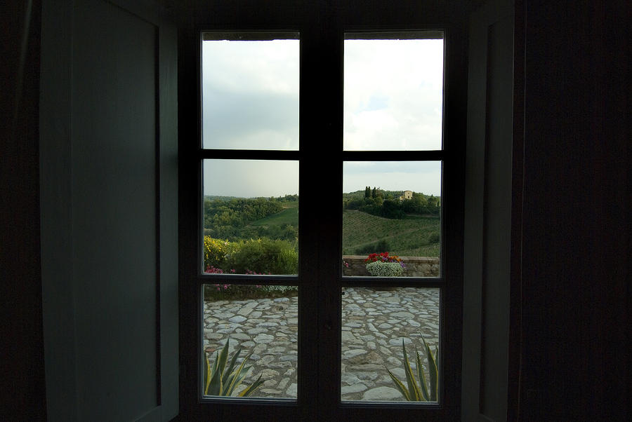 Looking Through The Window Of A Tuscan Photograph