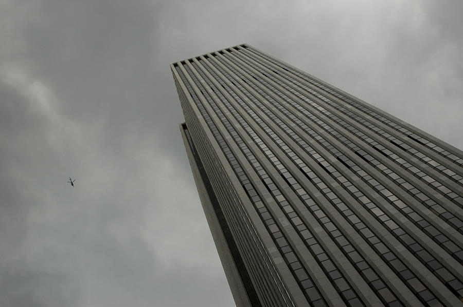 Looking Up At A Skyscraper Photograph  - Looking Up At A Skyscraper Fine Art Print