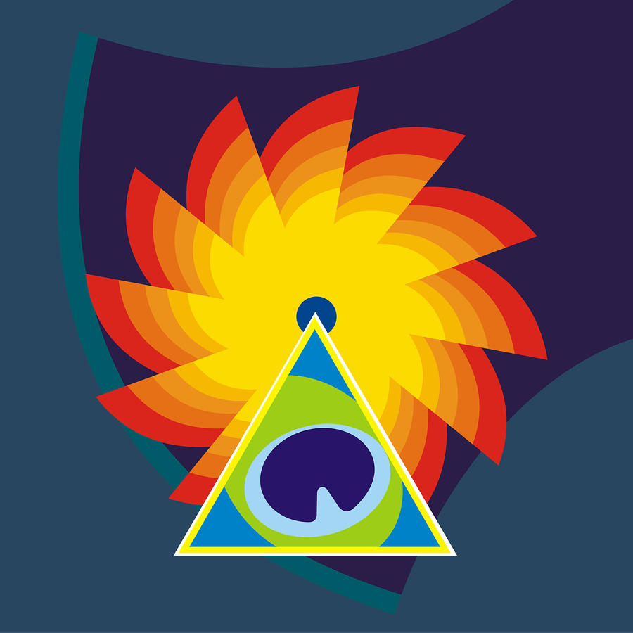 Lord Krishna And Sudarshan Chakra Digital Art