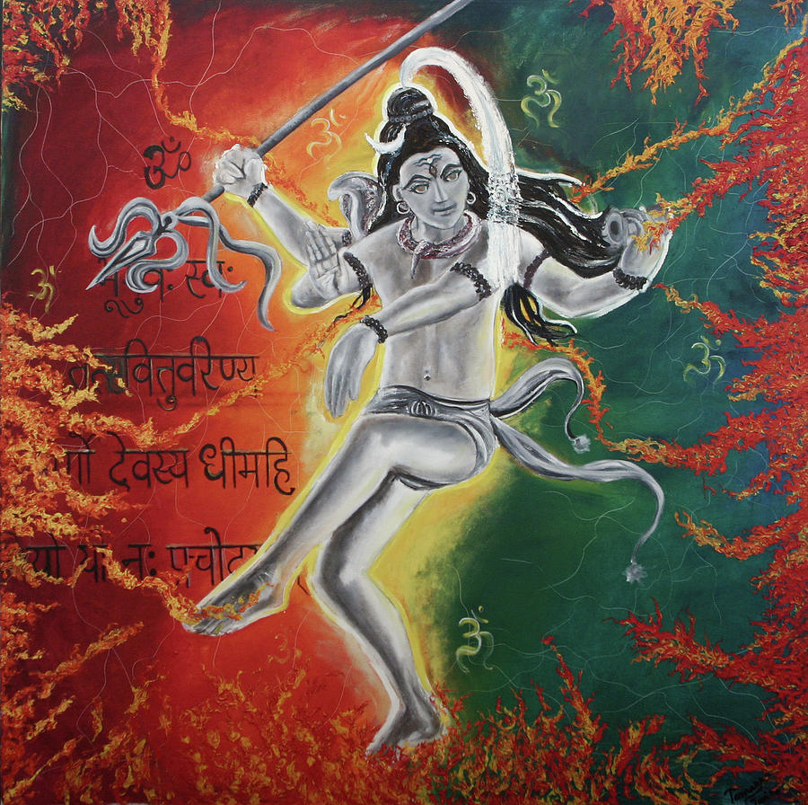 Lord Shiva-the Cosmic Dance Painting  - Lord Shiva-the Cosmic Dance Fine Art Print