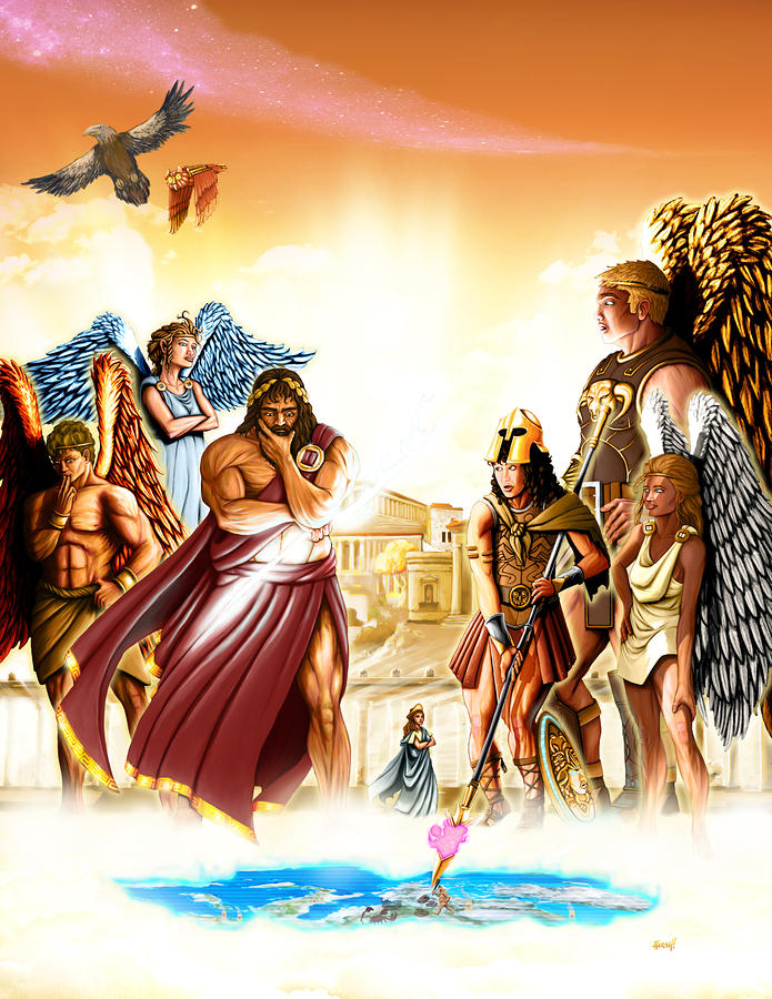 Lords Of Olympus Digital Art