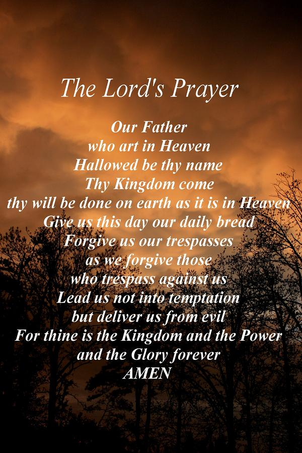Lord S Prayer Large Print for Pinterest
