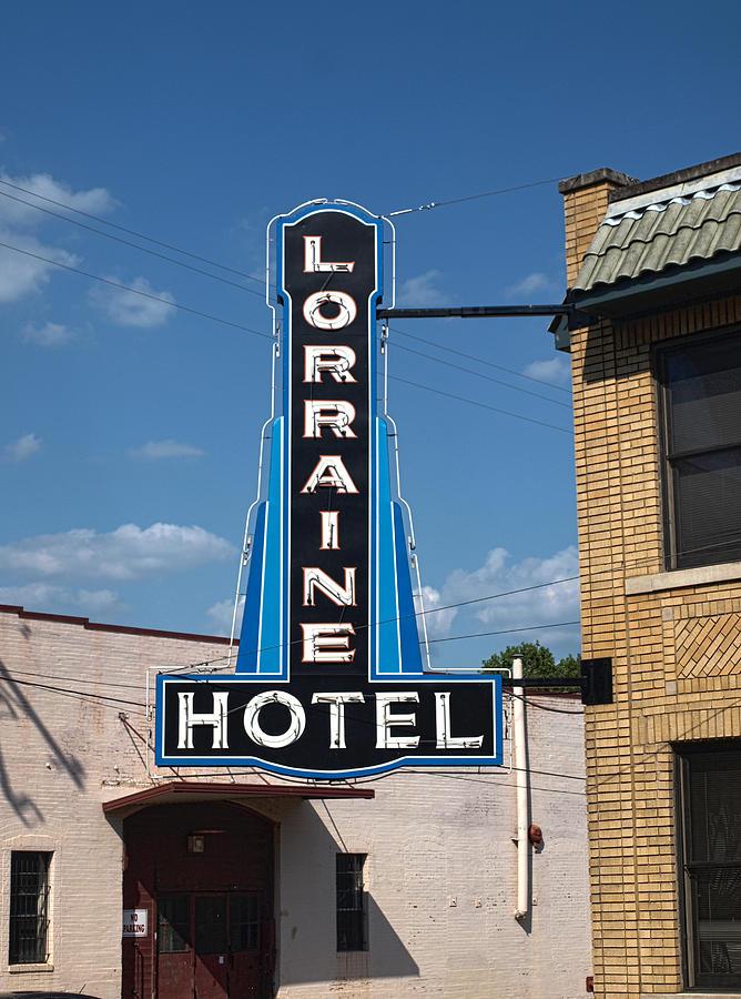 Lorraine Hotel Sign Photograph
