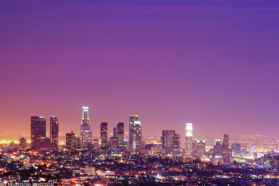 Los Angeles At Dusk Photograph  - Los Angeles At Dusk Fine Art Print