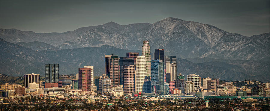 Los Angeles Skyline Photograph  - Los Angeles Skyline Fine Art Print