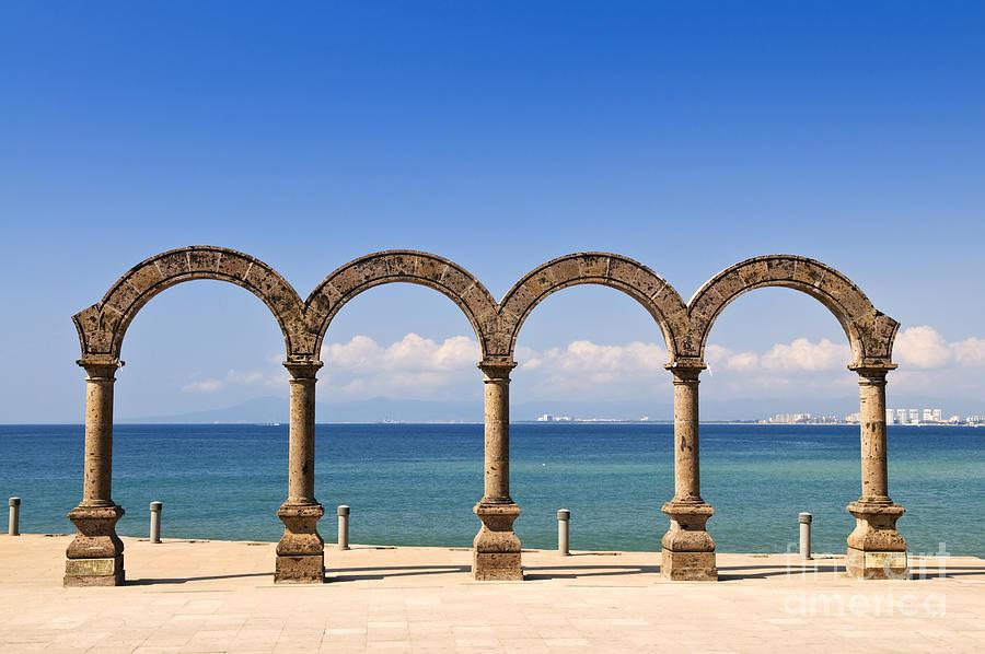 Arcos Photograph - Los Arcos Amphitheater In Puerto Vallarta by Elena Elisseeva