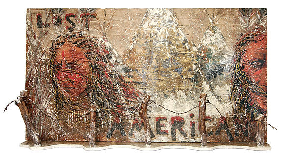 Lost Americans At Wounded Knee Painting