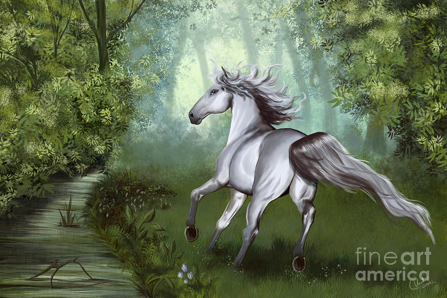 Lost In The Forest  Painting  - Lost In The Forest  Fine Art Print