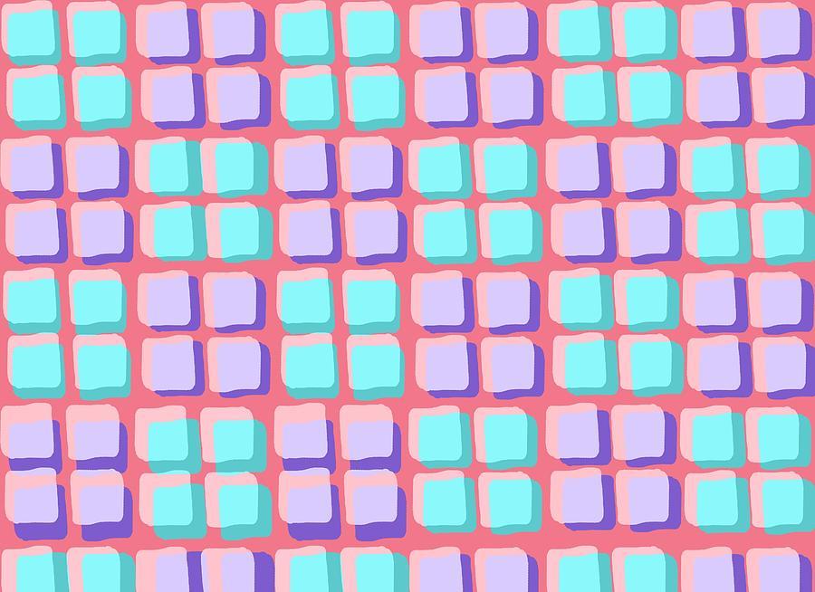 Louisa Digital Art - Lots Of Squares by Louisa Knight