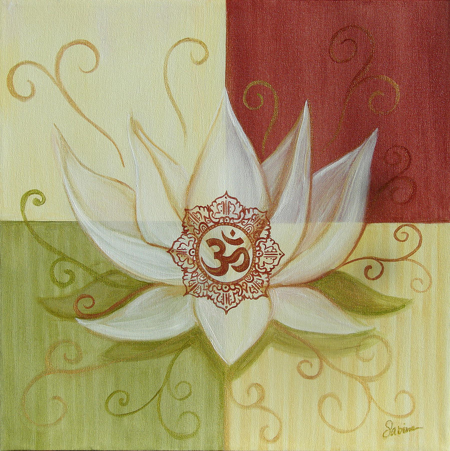 Lotus Aum Painting by Sabina Espinet
