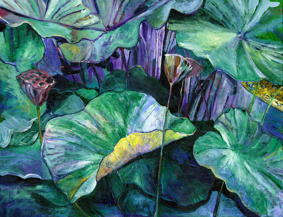 Lotus Pond Painting