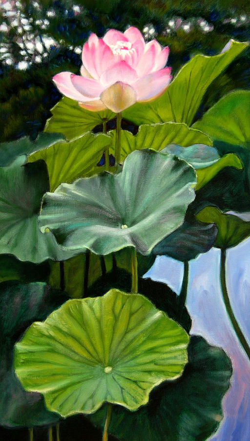 Lotus Rising Painting  - Lotus Rising Fine Art Print