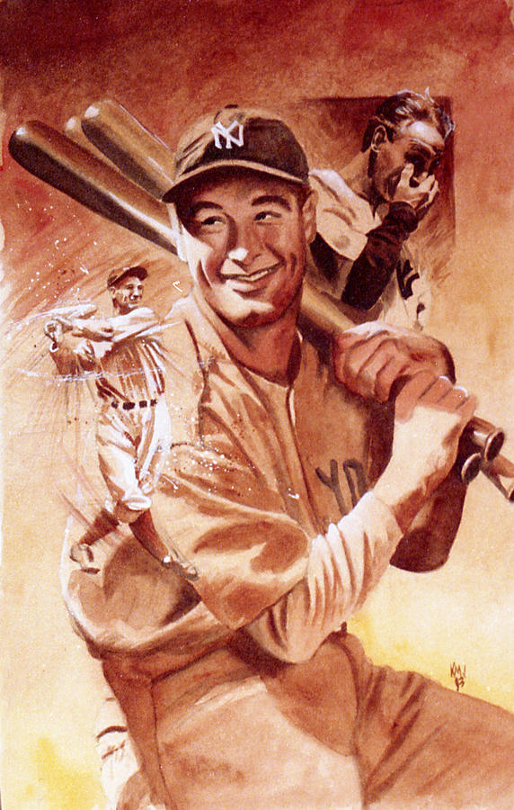 Lou Gehrig Painting