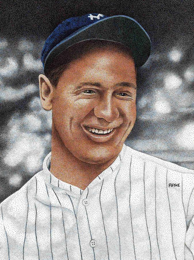 Lou Gehrig Drawing
