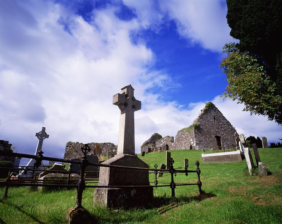 Architectural Exteriors Photograph - Loughinisland, Co. Down, Ireland by The Irish Image Collection