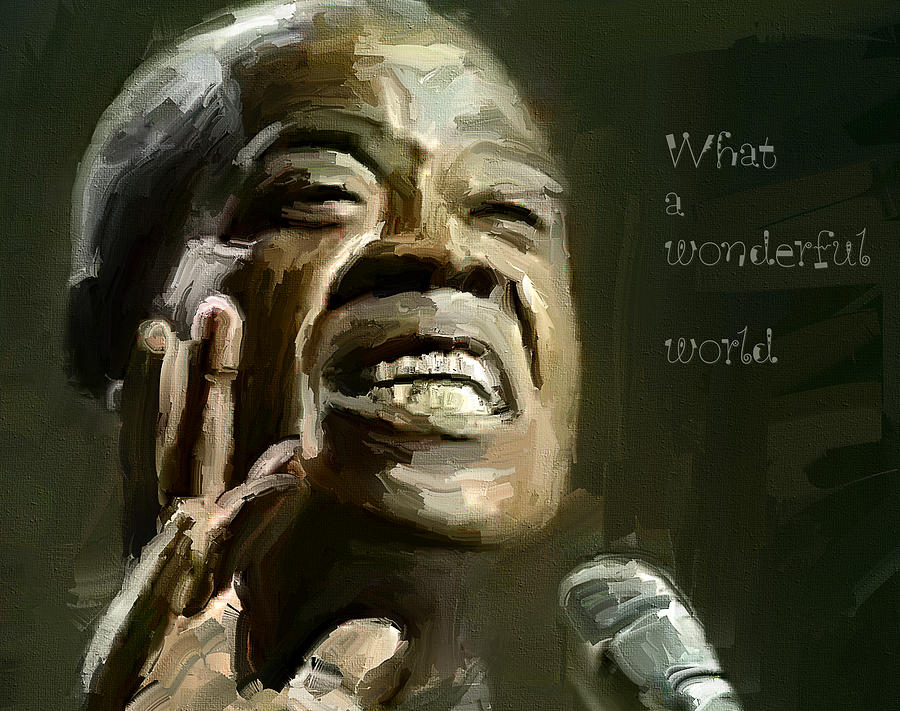 Louis Armstrong Wonderful World Digital Art