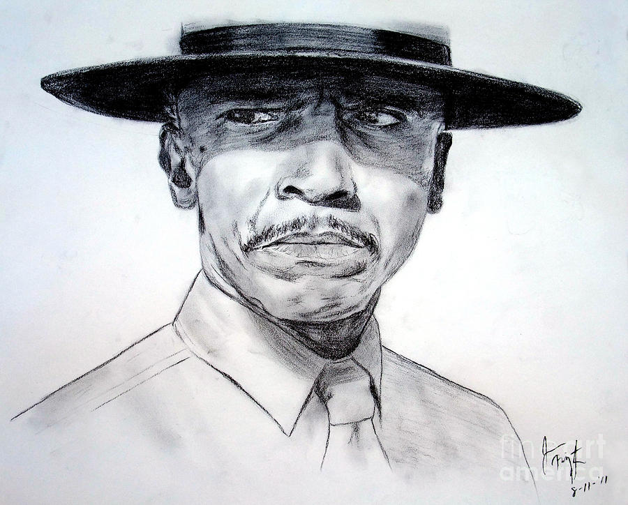 Debra Winder Drawing - Louis Gossett Jr In An Officer And A Gentleman by Jim Fitzpatrick