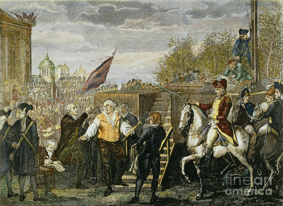 Louis Xvi: Execution, 1793 Photograph