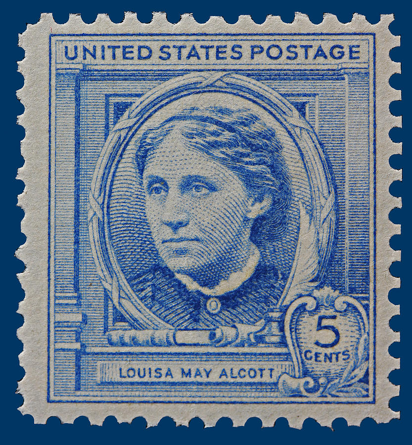 Louisa May Alcott Postage Stamp  Photograph  - Louisa May Alcott Postage Stamp  Fine Art Print