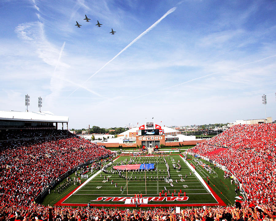 Louisville Papa Johns Cardinal Stadium Fly-over  Photograph