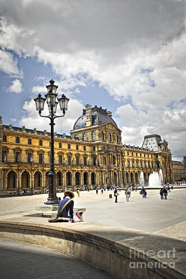 Louvre Photograph - Louvre Museum by Elena Elisseeva