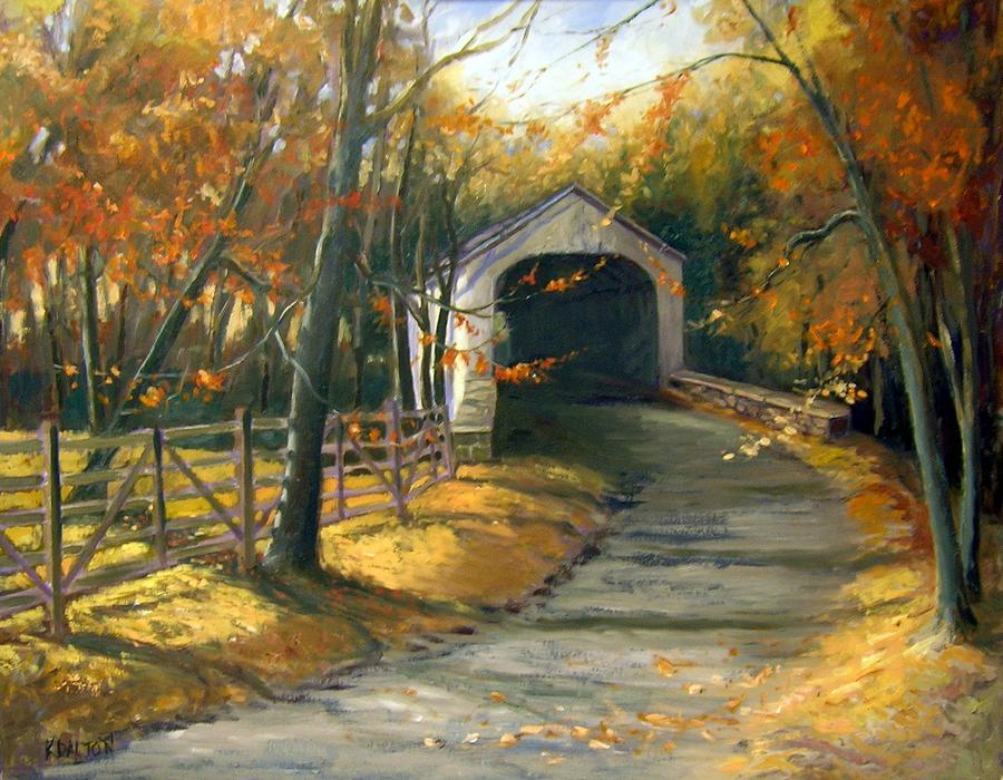Loux Covered Bridge Painting  - Loux Covered Bridge Fine Art Print