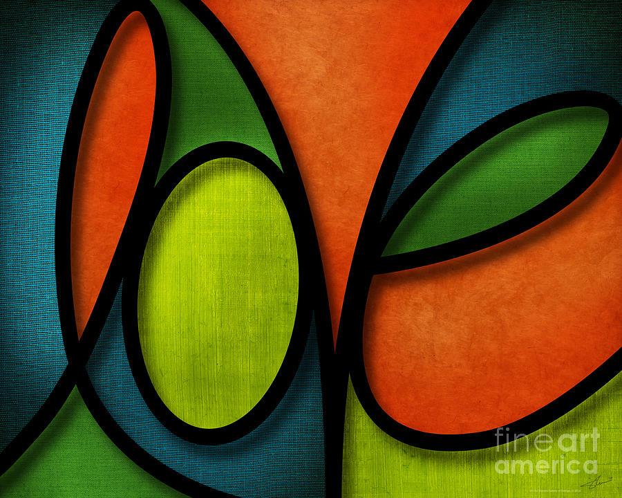 Love - Abstract Mixed Media  - Love - Abstract Fine Art Print