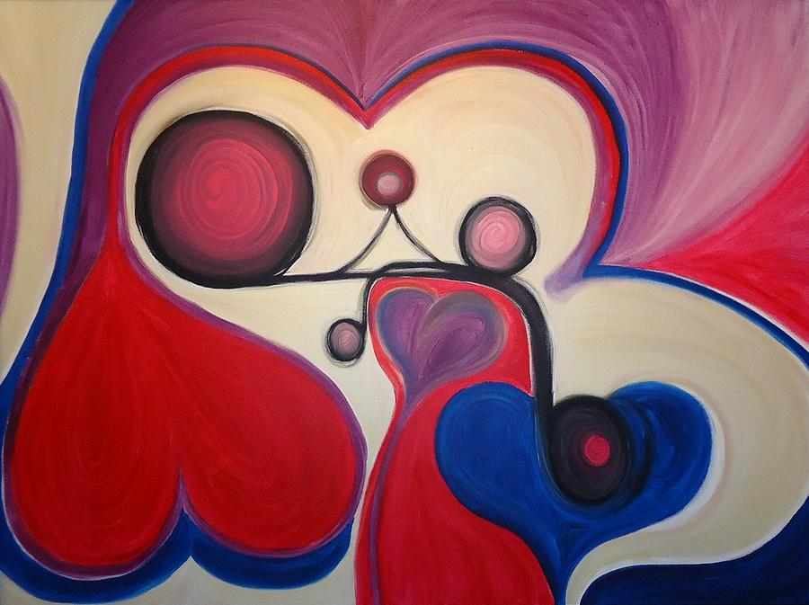 Love - To Have A Feeling Of Intense Desire And Attraction Toward. Painting