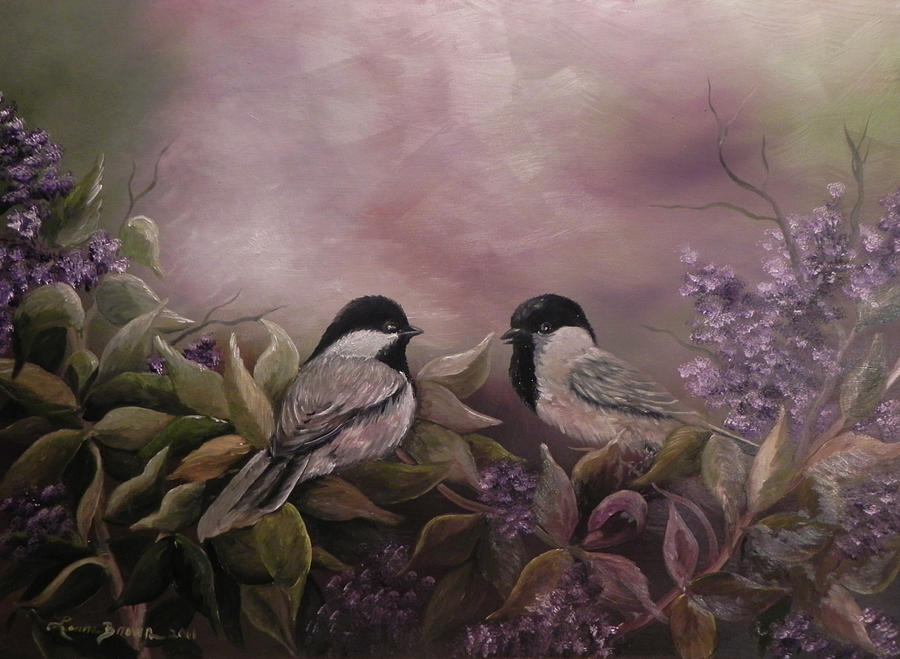 Love Amongst The Lilacs Painting  - Love Amongst The Lilacs Fine Art Print