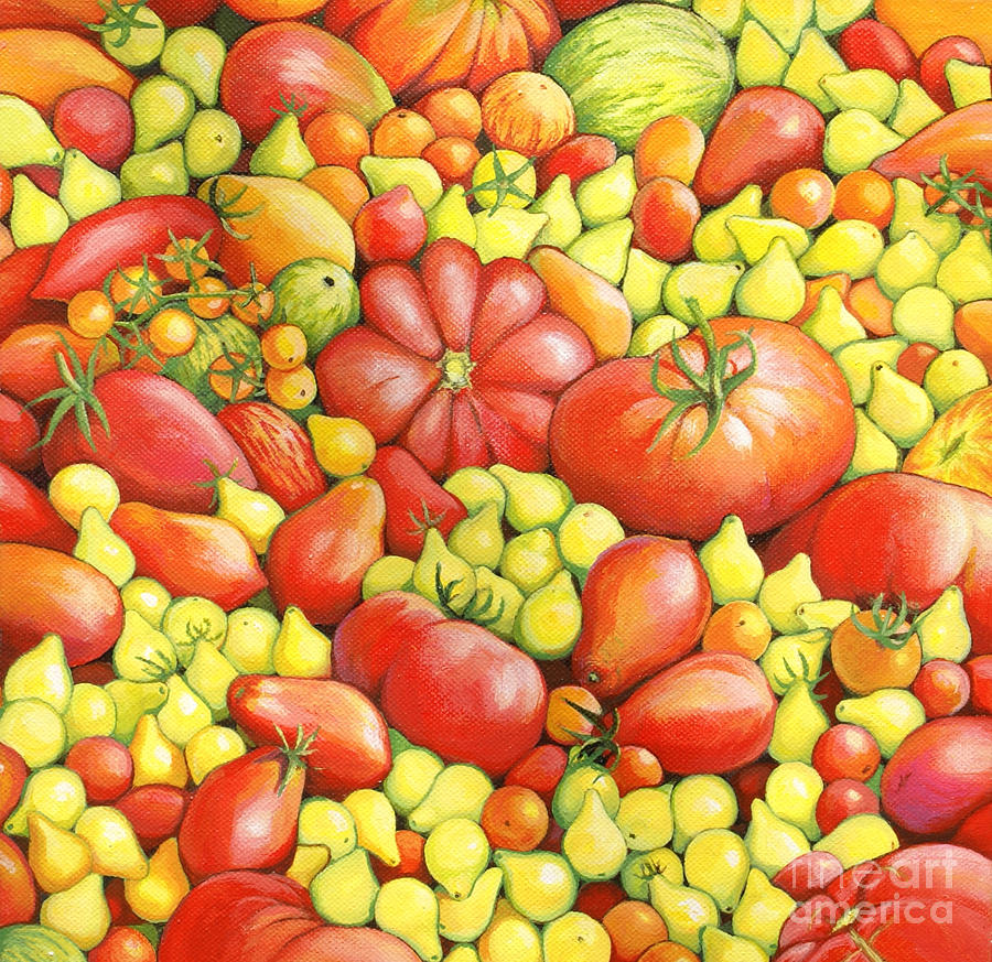 Love Apples ... Heirloom Tomatoes Painting  - Love Apples ... Heirloom Tomatoes Fine Art Print