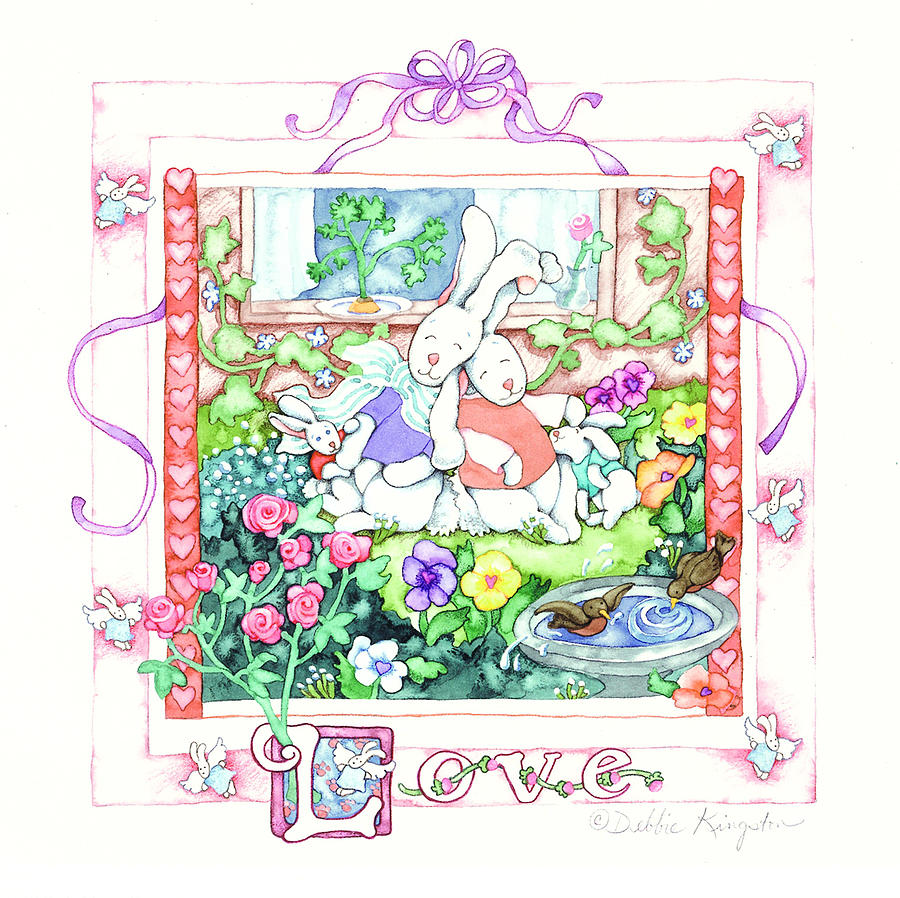 Love Bunnies Painting  - Love Bunnies Fine Art Print