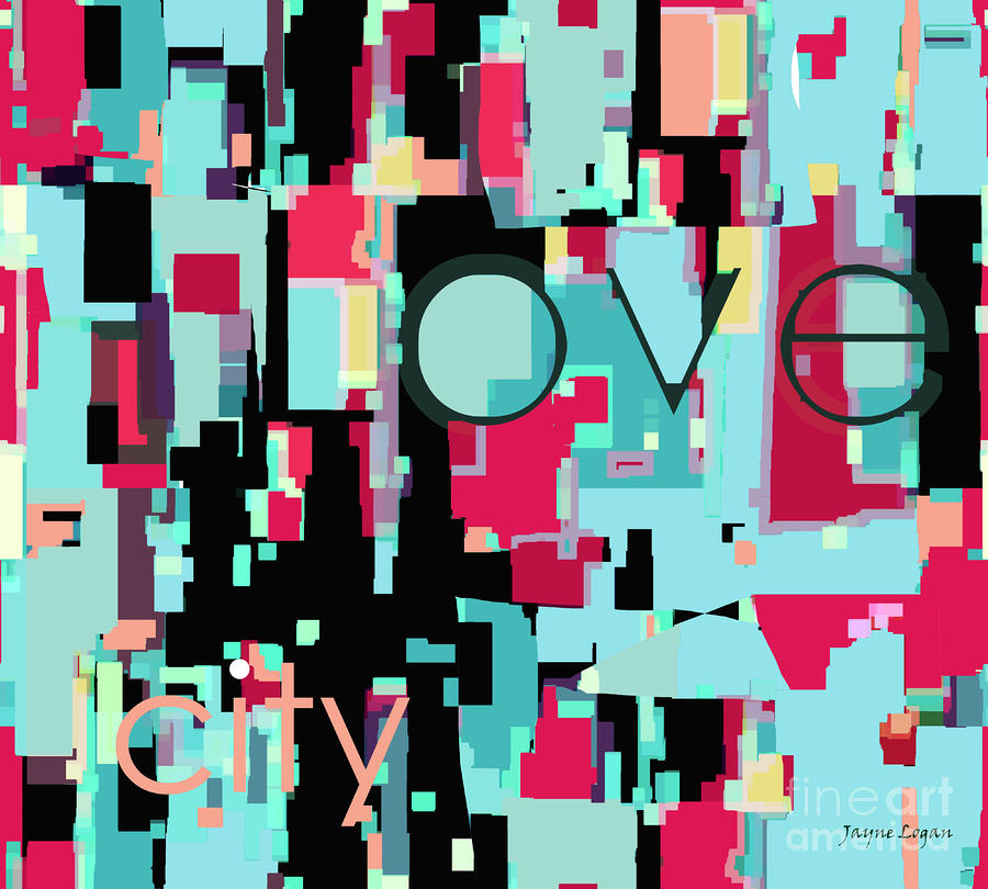 Love City Digital Art  - Love City Fine Art Print