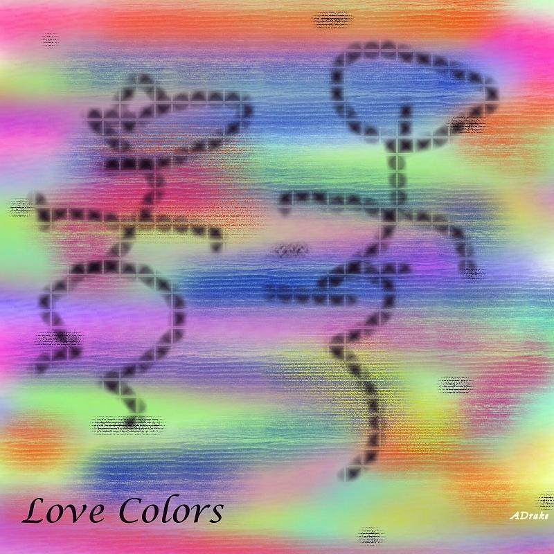 Love Colors Digital Art  - Love Colors Fine Art Print