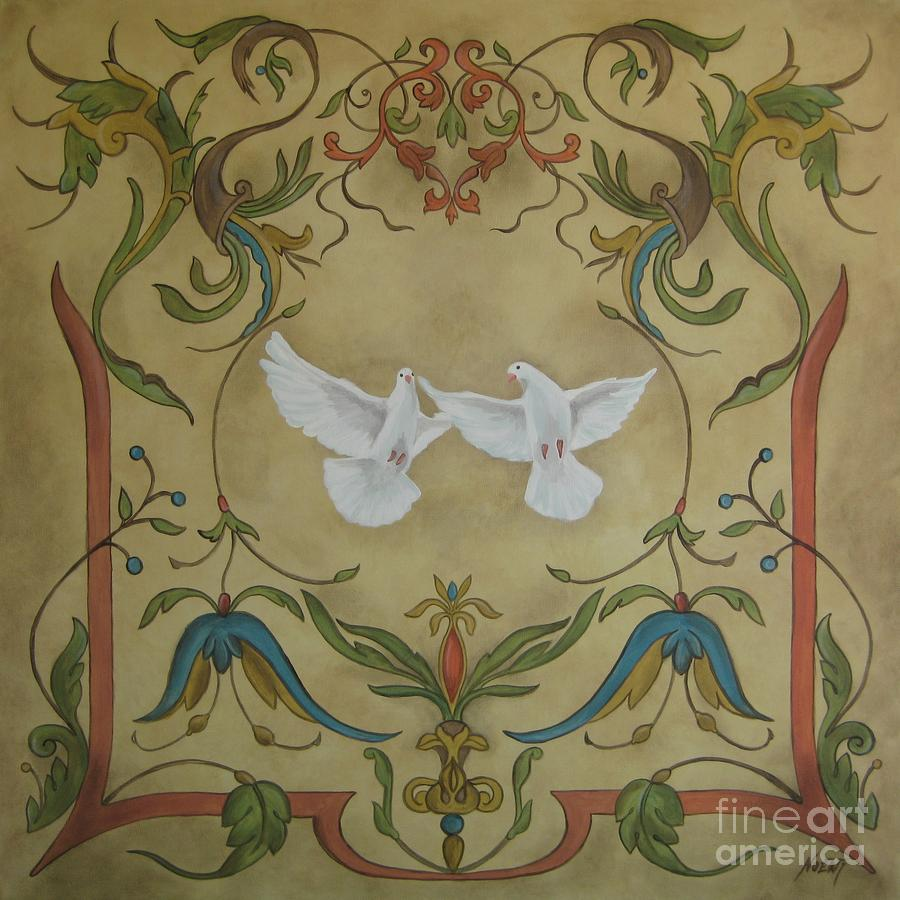 Love Doves Painting  - Love Doves Fine Art Print