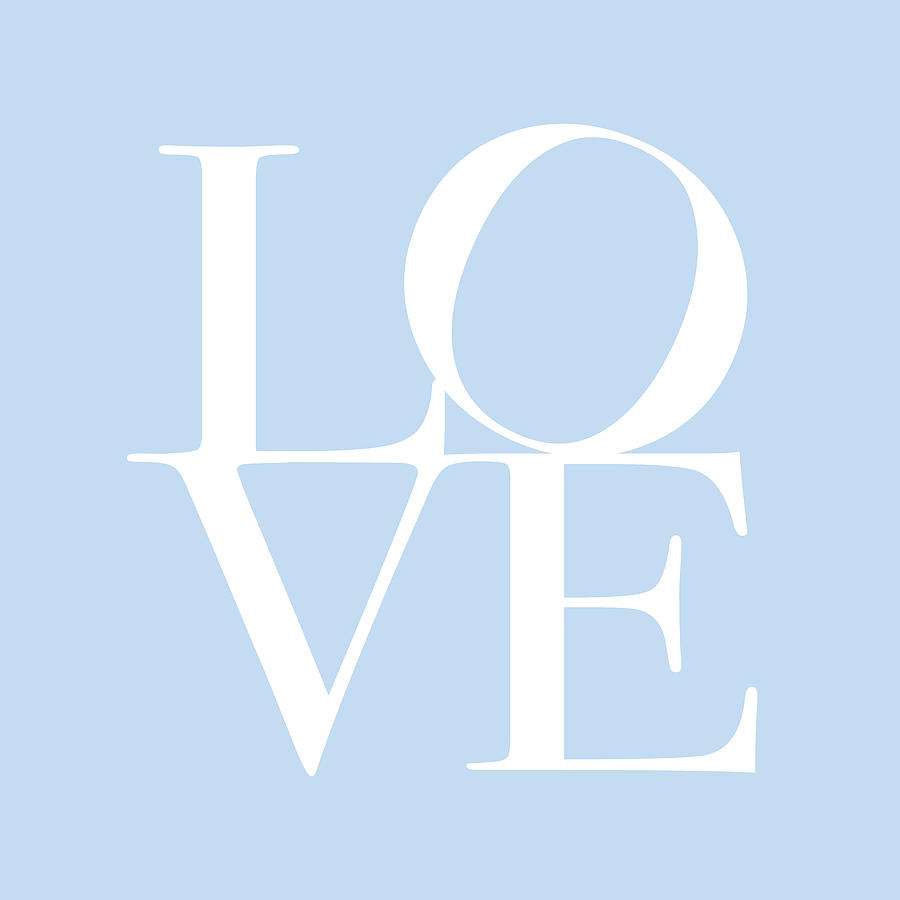 Love In Baby Blue Digital Art