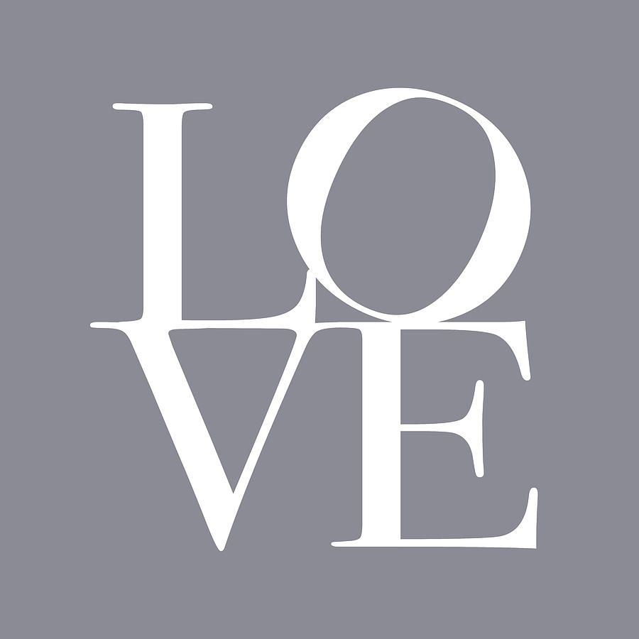 Love In Grey Digital Art  - Love In Grey Fine Art Print