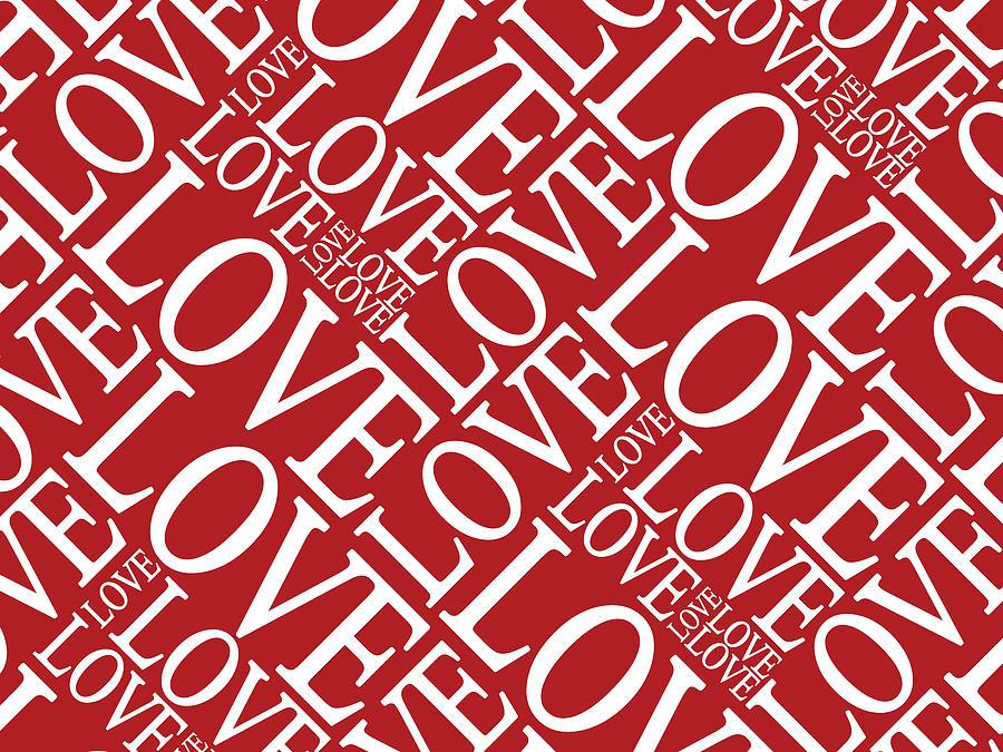 Love In Red Digital Art