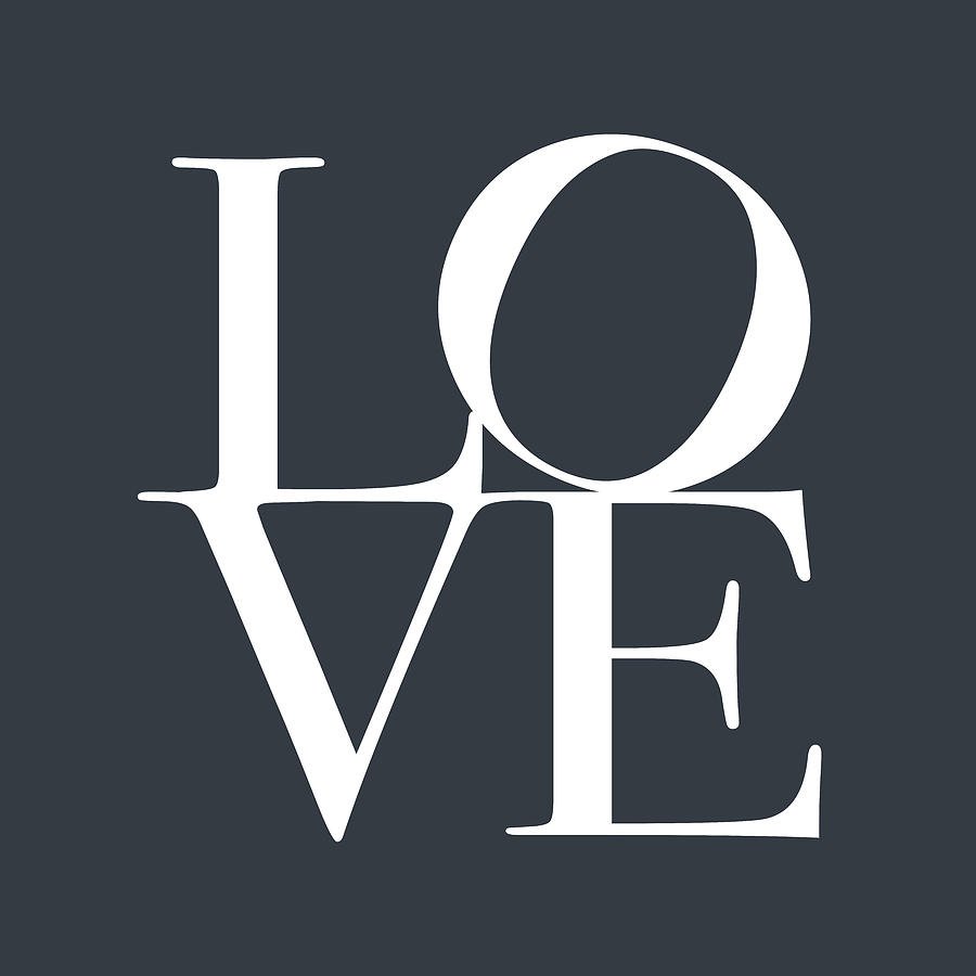 Love In Slate Grey Digital Art  - Love In Slate Grey Fine Art Print