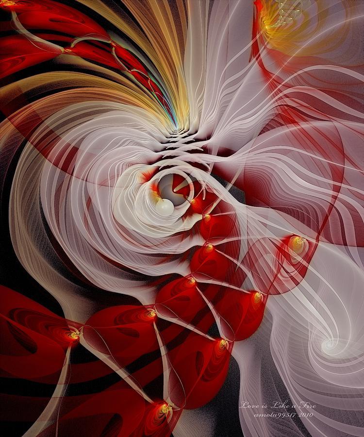 Love Is Like A Fire Digital Art