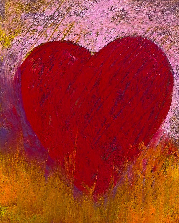 Pastel Painting - Love On Fire by David Patterson
