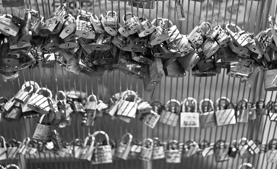 Love Padlocks On The Bridge Photograph