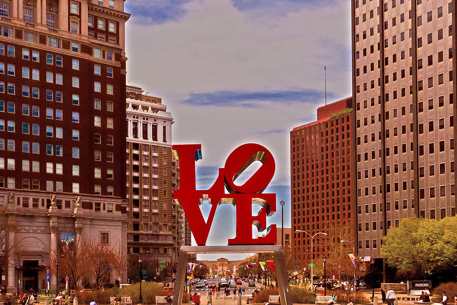 Love Sculpture - Philadelphia - 2 Photograph  - Love Sculpture - Philadelphia - 2 Fine Art Print