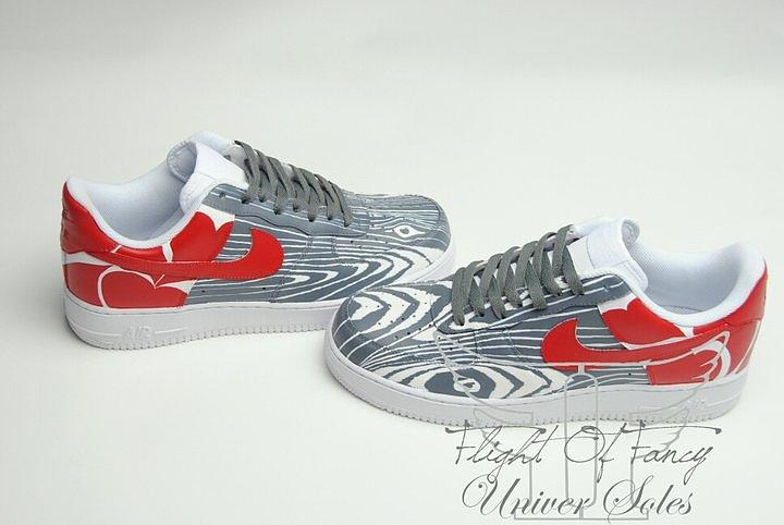 Love Woods Custom Air Force Ones Mixed Media  - Love Woods Custom Air Force Ones Fine Art Print